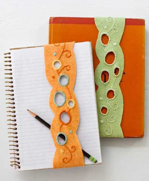 Free Sewing Pattern and Tutorial - How to make Cutwork Felt Bookmarks