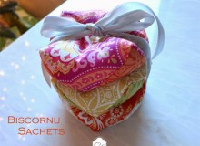 Biscornu Sachets – Free Sewing Tutorial