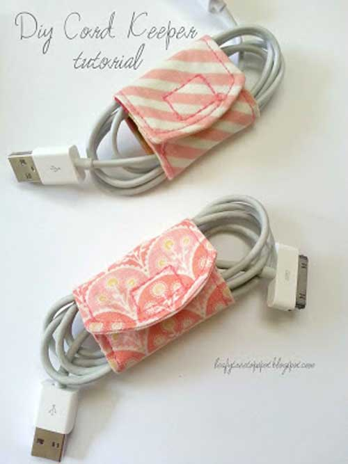 Fabric Cord Keeper - Free Sewing Tutorial