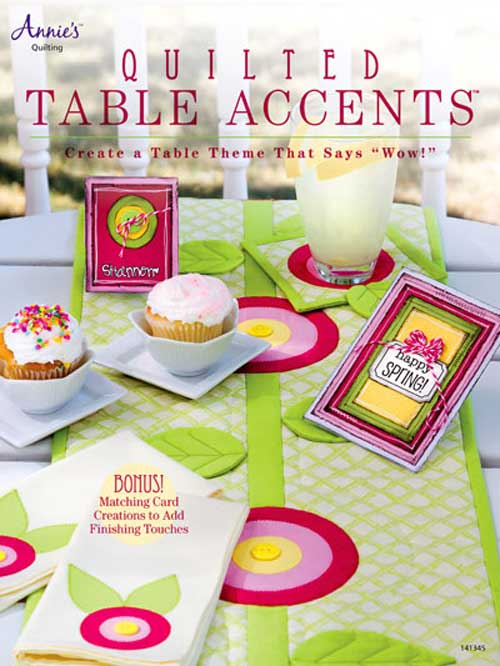 Easily change the look of your table with this charming collection of quilted table decorations.