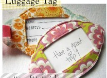 Luggage Tag – Free Sewing Pattern