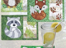 Backyard Buddies Mug Rugs Embroidery Pattern