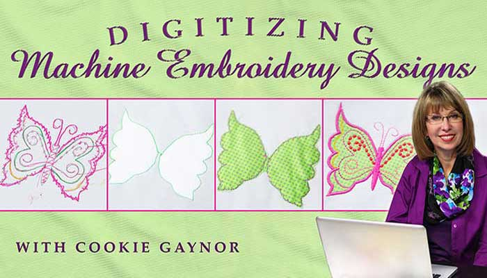 Digitizing Machine Embroidery Designs: Online Class