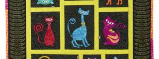 Stipple Sassy Cats Quilt Block Embroidery Design Collection